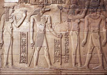 Hathor y Sobek, Kom Ombo, Egipto