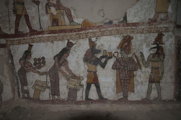 Pinturas de la tumba de Petosiris en Muzawaka (XI)