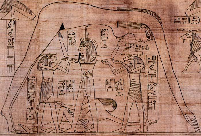 Representación del mito de la creación