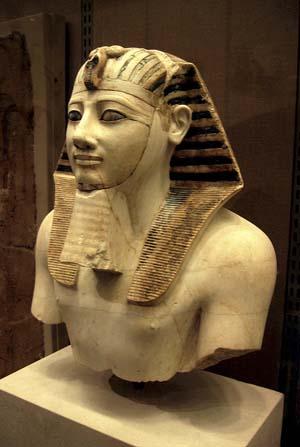 El busto del faraón