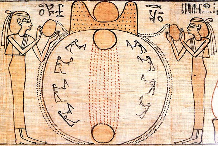 Amanecer en el mito de la creación