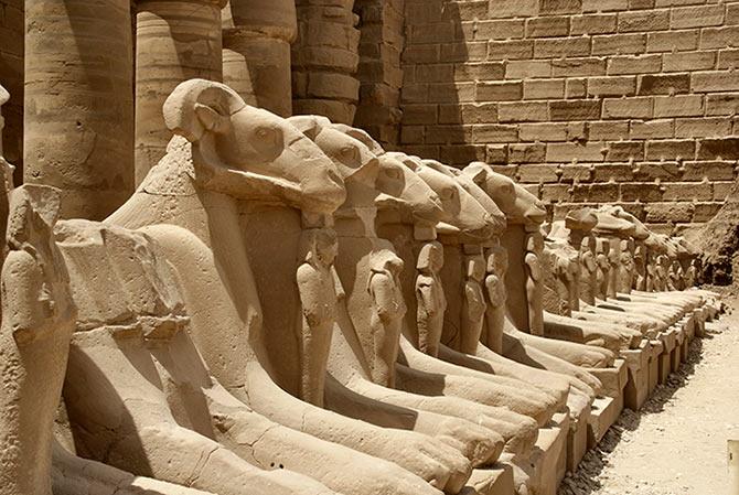 El templo de Amón en Karnak.
