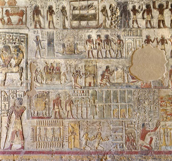 Representaciones de rituales en la tumba de Paheri