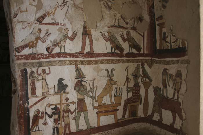 pinturas murales de tumbas, que representan el peso del corazón